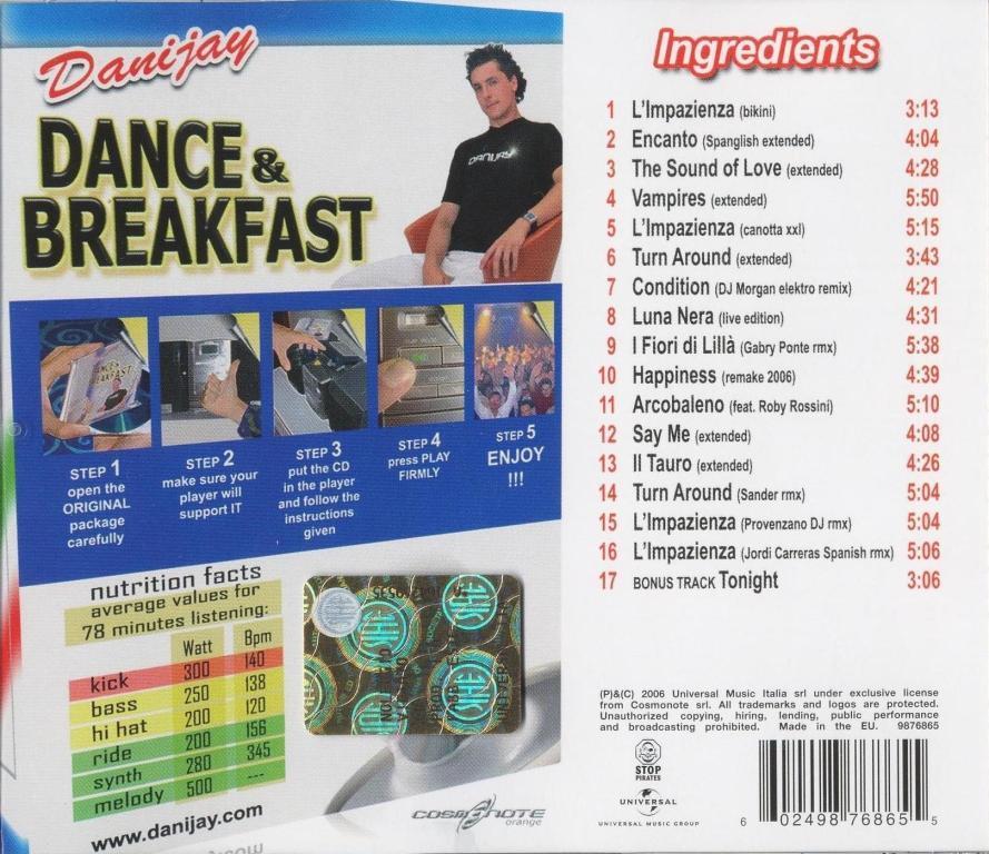 Danijay - Dance & Breakfast - [Back]
